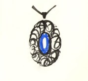 Design for pendant: Ink & watercolour