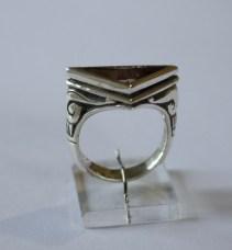 Triangular Ring: silver, quartz