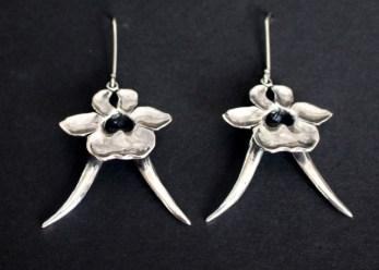 Bokhoringtjie: Earrings, silver