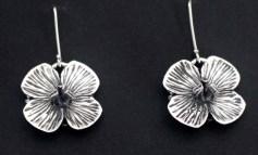 Blouflaks: Earrings, silver