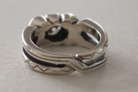 Anniversary Ring: silver, gold, diamond