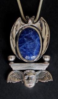 Sleep: Pendant, silver, sodalite