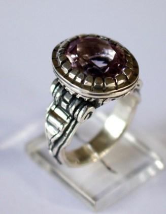 Ring: silver, quartz
