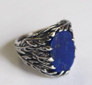 Ring: silver, lapis lazuli