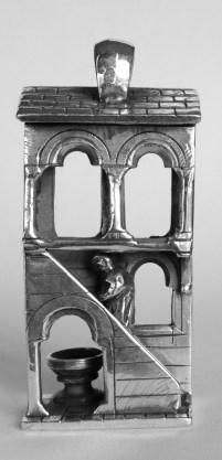 Monk Ascending a Staircase: Pendant, silver