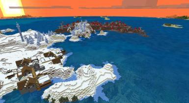 Survival Island, Mushroom, Ice Spikes & Village | Minecraft Seed