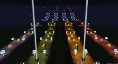 Lucky Block Race [Minigame] (Addon!) Minecraft Pe