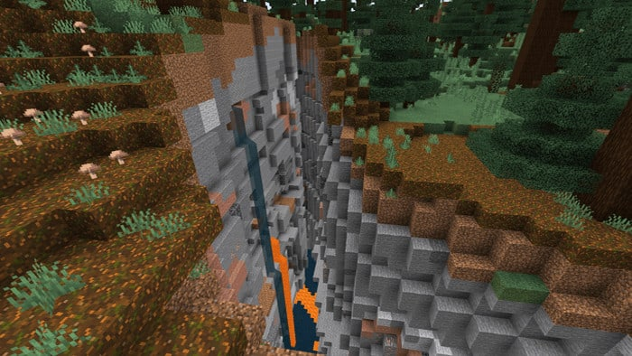 Double Mineshaft Skeleton Spawner,Taiga Biome