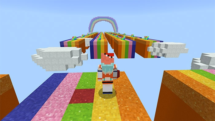 Rainbow Lucky Block Race