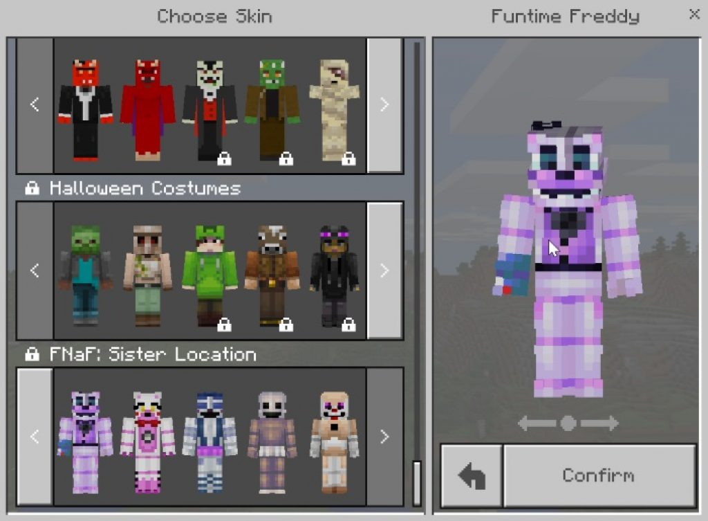 If you're playing minecraft on a different platform, like xbox one, then mods, skins,. Five Nights At Freddy's: Sister Location Texture Pack
