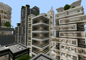 modern architecture buildings minecraft map series maps nxus pe creation mcpedl