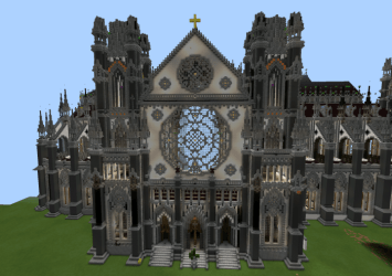minecraft cathedral map pe huge interior entrance building maps towers creation creator breathtaking mcpedl