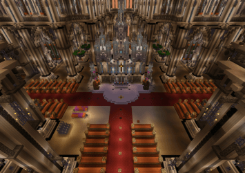 cathedral minecraft creation maps