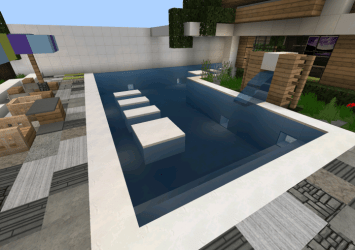 casa moderna minecraft pe map mediafire creation screenshot