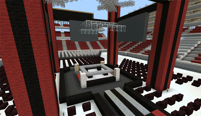 Wrestling Arena Creation Minecraft PE Maps