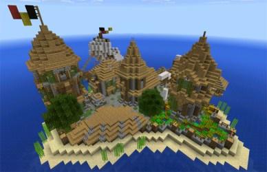medieval island village minecraft creation maps ocean pe creator mcpedl