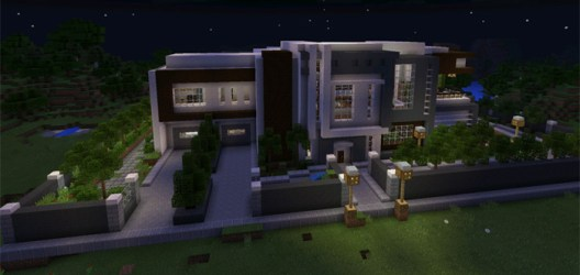 mansion modern minecraft map mcpe pe maps creation mcpedl survival redstone