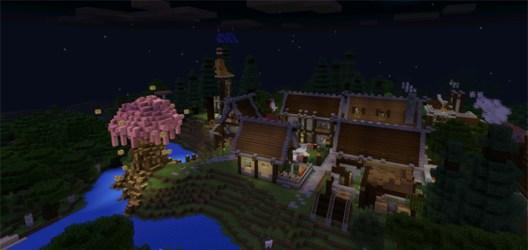 fantasy town minecraft map mcpe creation mcpedl pe name file minecon game maps mod