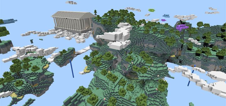 Aether Dimension Creation Minecraft PE Maps