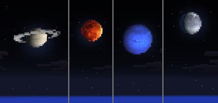 Solar System Skies Minecraft PE Texture Packs