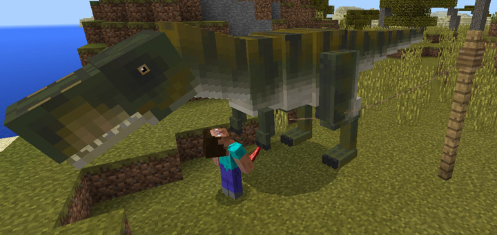 T Rex Addon Minecraft PE Mods Amp Addons