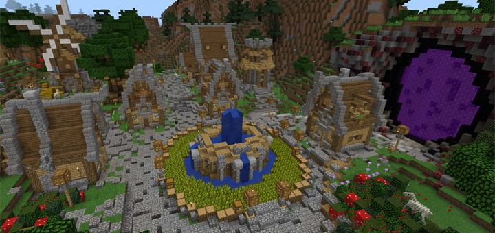 Medieval City Creation Minecraft PE Maps