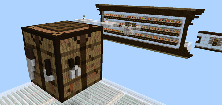 Giant Working Crafting Table Redstone 1 2 Beta Only Minecraft Pe Maps