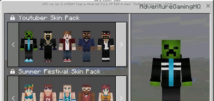 YouTubers Skin Pack 12 Beta Only Minecraft Skin Packs