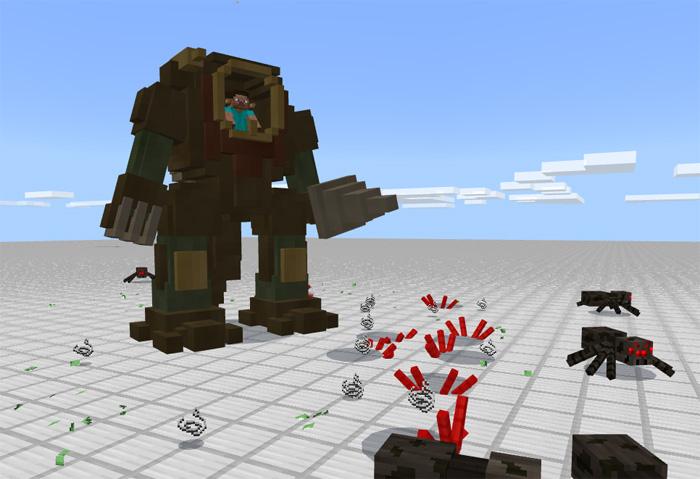 моды на майнкрафт на 1.7.2 на огромных роботов которые будут враждебны и мод на оборотней #3