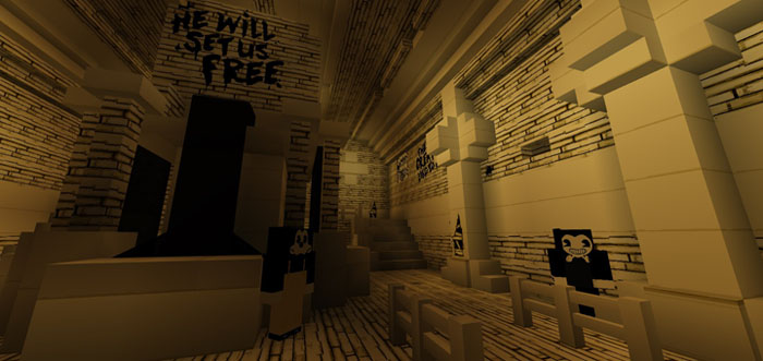 Ink And Mod Machine Bendy Minecraft