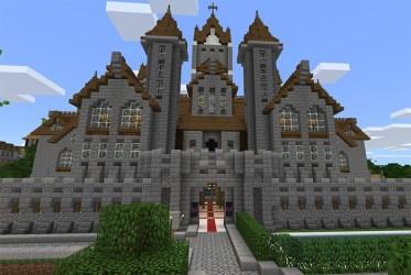 medieval village minecraft town pe creation map maps