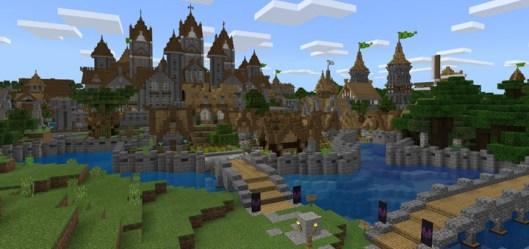 medieval village minecraft town map maps pe creation