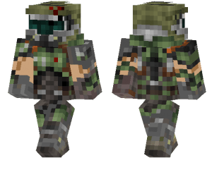 Can fantasize that you're playing doom, especially in the nether. Doom Slayer   Minecraft PE Skins