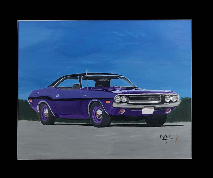 Purple Hemi Charger R/T painting by Jeff McPhail