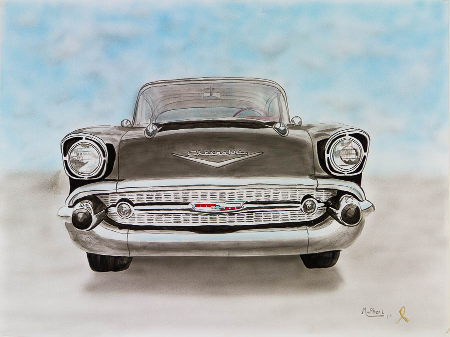 1957 Chevrolet BelAir Watercolor