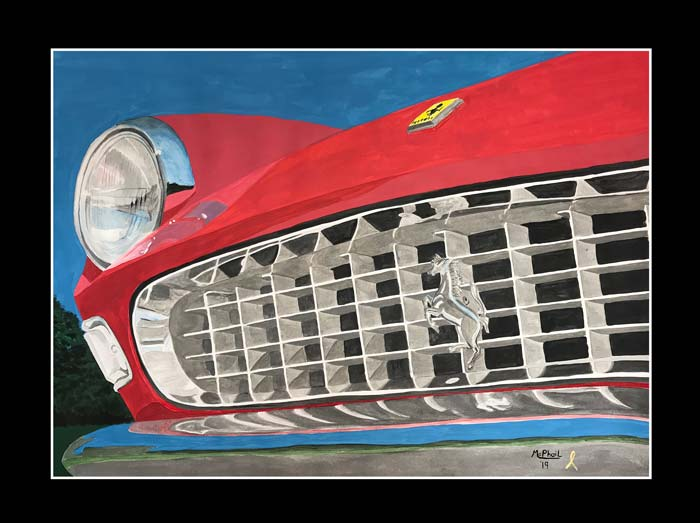 1966 Red Ferrari 275 GTS painting by Jeff McPhail