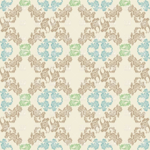 Vector. Seamless floral pattern, background
