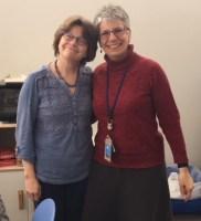 Carolyn Maddox and coworker