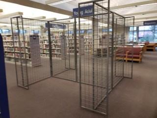Empty wire book racks