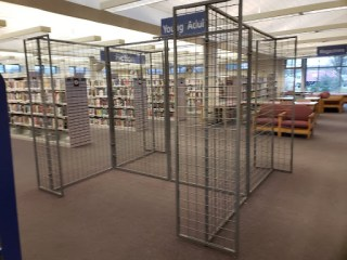 Empty wire book racks