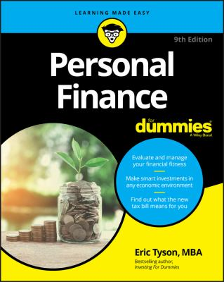 Book cover for Personal Finance for Dummies by Eric Tyson