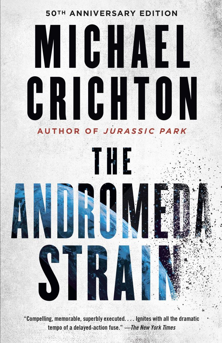 Book cover for The Andromeda Strain by Michael Crichton