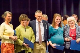 Carrie Wintersgill, Cathy Mills, Dr. Matthew Eberhardt, Taylor Aylor, Beth Wilson