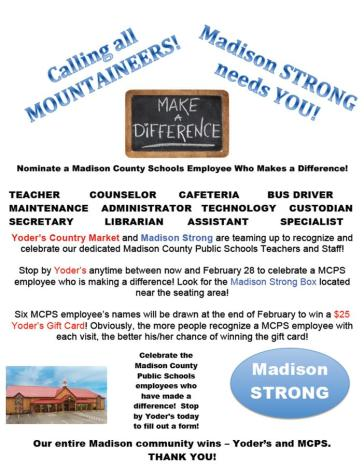 Madison Strong Yoders Flyer