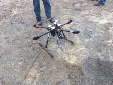 Drone Used at Quarry Blast