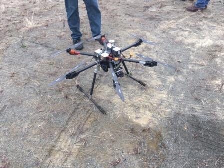 Drone Used at Quarry Blast