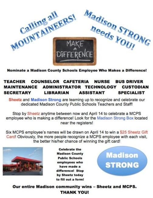 Madison Strong Advertisement for Employee Recognition