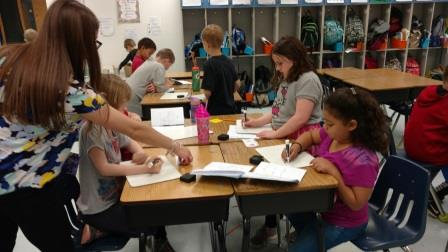 Students Working on Passports to Success