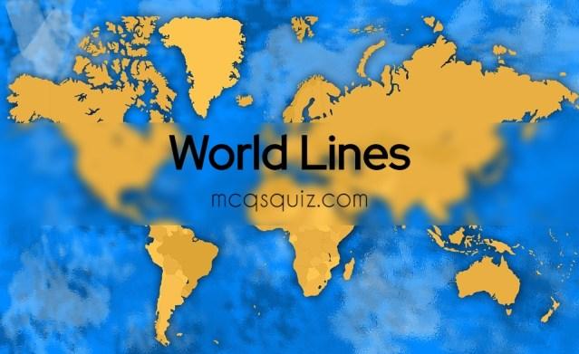 World Lines Mcqs