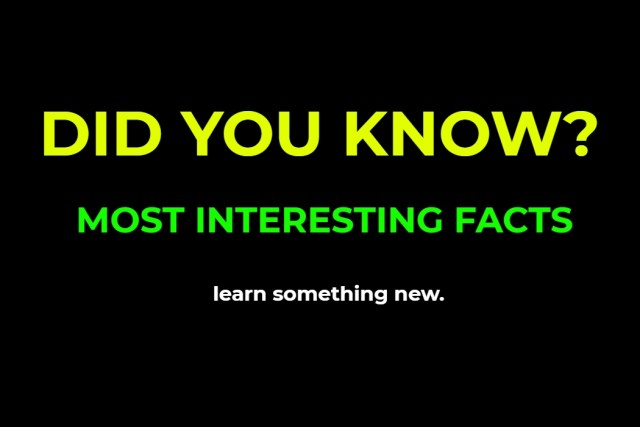 DID YOU KNOW ? (General Knowledge)
